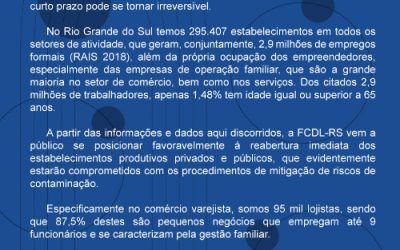 Nota Oficial da FCDL-RS – Em Defesa do Varejo e da Estabilidade Social