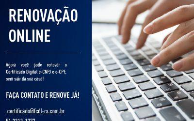 Renovação online do Certificado Digital