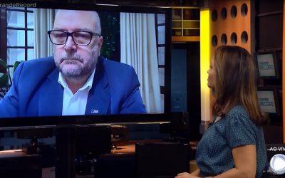 Presidente Vitor Augusto Koch concede entrevista à TV Record RS