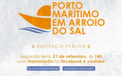 Audiência pública tratará do Porto Marítimo em Arroio do Sal