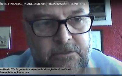 Em reunião da Comissão de Finanças da Assembleia, presidente Vitor Augusto Koch afirma que não é possível aumentar a carga tributária gaúcha