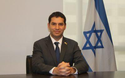 FCDL-RS e FIRS retomam eventos presenciais em encontro com o Cônsul Geral de Israel no Brasil, Alon Lavi