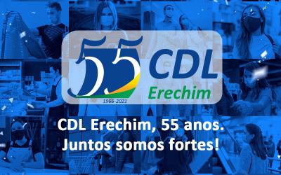 CDL Erechim celebra seus 55 anos