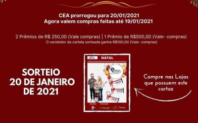 Centro Empresarial de Alegrete prorroga sorteio da Campanha do Natal 2020