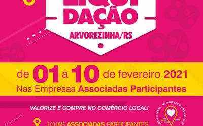 Mega Liquidação promovida pela ACISAR/CDL Arvorezinha
