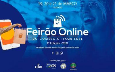 CDL Itaqui promove o 1o Feirão Online do Comércio Itaquiense