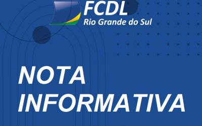 Nota informativa da FCDL-RS