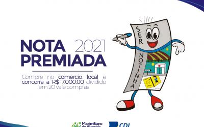 CDL Acismax e prefeitura promovem a Campanha Nota Premiada 2021