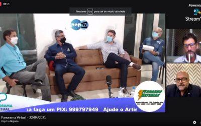 Presidente Vitor Augusto Koch participa de debate com lideranças políticas e empresariais de Alegrete