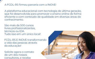 FCDL-RS e a INOVE Cursos Online apostam na educação para transformar a vida dos gaúchos
