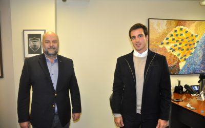 Visita do diretor de Operações do Jornal do Comércio, Giovanni Tumelero