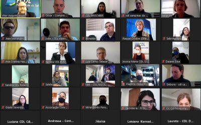 Reunião com executivos de CDLs projeta ações futuras da Federação