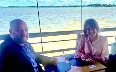 Reunião com a vereadora de Porto Alegre, Nádia Gerhard