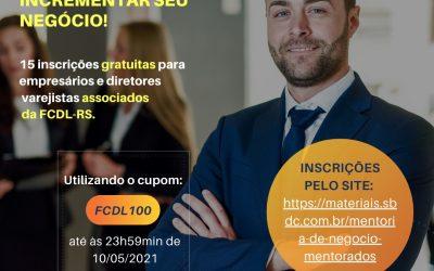 Programa de Mentoria de Negócios disponibiliza 15 inscrições gratuitas para associados da FCDL-RS