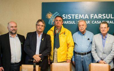 FCDL-RS presente em recepção ao presidente da República, Jair Bolsonaro